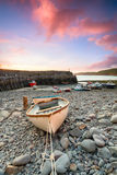Fishing Boats at Clovelly Royalty Free Stock Photography