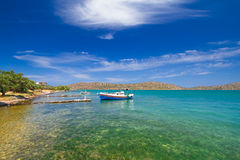 Fishing boats at the coast of Crete Royalty Free Stock Image