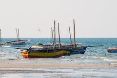 Fishing boats at the coast. Stock Photos
