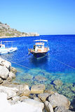 Fishing boats at the coast of Zakynthos Royalty Free Stock Image