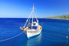 Fishing boats at the coast of Zakynthos Royalty Free Stock Photography