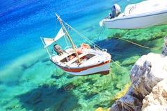 Fishing boats at the coast of Zakynthos Royalty Free Stock Photo