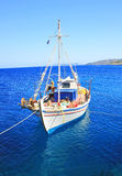 Fishing boats at the coast of Zakynthos Stock Image