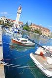 Fishing boats at the coast of Zakynthos Royalty Free Stock Images