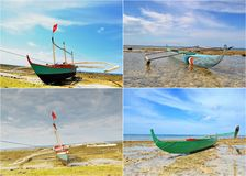 Fishing Boats Collage Stock Photography