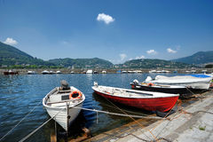 Fishing boats in Como Royalty Free Stock Photos
