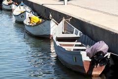 Fishing boats. In Constanta port at quay Stock Photo