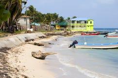 Fishing boats Corn Island Nicaragua Stock Image