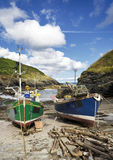 Fishing Boats in Cornwall Stock Photo