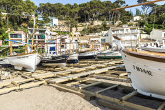 Fishing boats in the Costa Brava, Catalonia, Spain Royalty Free Stock Photos