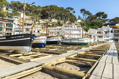 Fishing boats in the Costa Brava, Catalonia, Spain Royalty Free Stock Photography