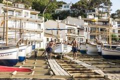Fishing boats in the Costa Brava, Catalonia, Spain Royalty Free Stock Image