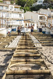 Fishing boats in the Costa Brava, Catalonia, Spain Royalty Free Stock Images