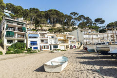 Fishing boats in the Costa Brava, Catalonia, Spain Stock Photo