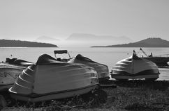 Fishing boats on the shore Royalty Free Stock Images
