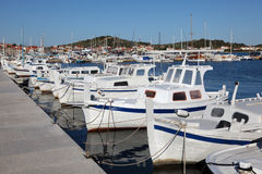 Fishing boats in Croatia Stock Image