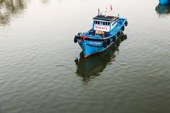 Fishing boats in Da Nang, Vietnam. Stock Photos