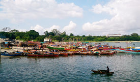 Fishing boats in Dar es salaam Royalty Free Stock Image