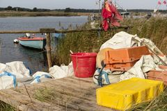 Fishing Boats on Darsser Ort Royalty Free Stock Photo
