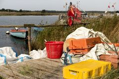 Fishing Boats on Darsser Ort Royalty Free Stock Images