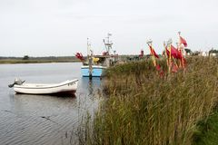 Fishing Boats on Darsser Ort Royalty Free Stock Photos