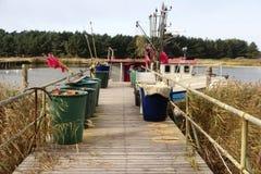 Fishing Boats on Darsser Ort Stock Photos