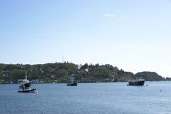 Fishing boats at dawn Stock Photos