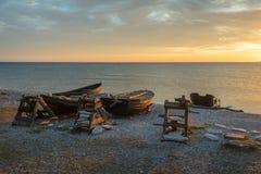 Fishing boats at dawn Stock Photo
