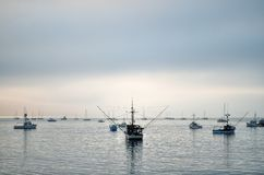 Fishing Boats at Dawn Royalty Free Stock Photo