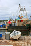Fishing boats in Dipper Harbour, NB Royalty Free Stock Photos