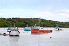 Fishing boats in Dipper Harbour, NB Stock Photography