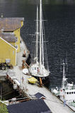 Fishing boats at dock Stock Image