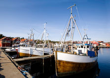 Fishing Boats at Dock Royalty Free Stock Photos