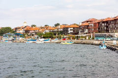 The fishing boats at the dock in Nessebar in Bulgaria Stock Photography