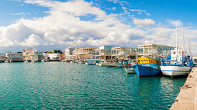 Fishing Boats Docked At Newly Constructed Limassol Marina. Cyprus Stock Images