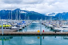 Free Fishing Boats Docked At The Whittier Harbour Royalty Free Stock Photo - 153913695