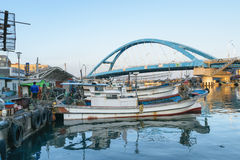 Fishing boats docked at a fishing village in Korea. Stock Image