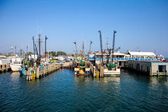 Fishing Boats docked in Galilee, Rhode Island. Stock Photography