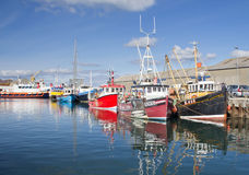 Fishing boats docked in Kirkwall Harbour Stock Photography