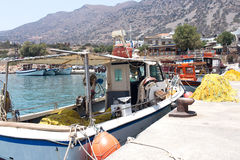 Fishing boats on the docks waiting for a new job Royalty Free Stock Image