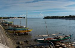 Fishing boats, Donsol - Philippines stock images