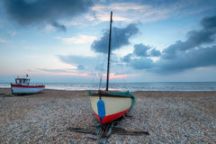 Fishing Boats at Dungeness Stock Image