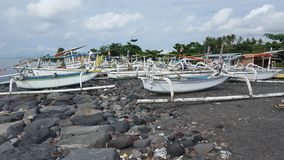 Fishing boats in east bali Stock Images