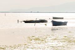 Fishing boats in the Ebro Delta, Catalonia, Spain Stock Image