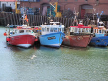 Fishing Boats in English Harbour Royalty Free Stock Photos