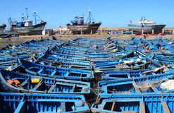 Fishing boats in Essaouira Royalty Free Stock Images