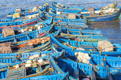 Fishing boats in Essaouira harbour, Morocco Royalty Free Stock Photo