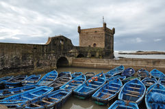 Fishing boats in Essaouira, Morocco Stock Image