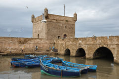 Fishing boats in Essaouira, Morocco Royalty Free Stock Images
