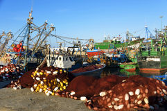 Fishing boats in Essaouira. Morocco, Africa Stock Photos